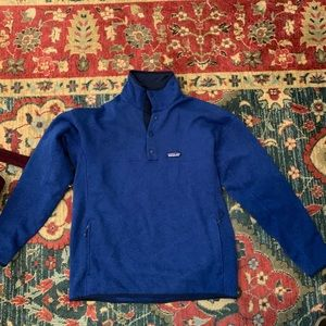 Blue Patagonia quarter bottom up